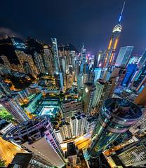 Hong Kong Vertigo (DanielKHC) Tags: hongkong cityscape china vertorama vertical panorama architecture buildings night vertigo nikon d850 nikkor 1424mm
