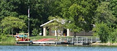 Wheaton, IL, Herrick Lake Forest Preserve, Boat House (Mary Warren 13.7+ Million Views) Tags: wheaton ilherrick lake forest preserve nature summer flora plants green park trees architecture building boathouse flad kayaks boats water