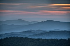 Misty Mountains (somewheredowntheroadphoto) Tags: mountains smokey ridges layers sky sunset lines trees light shadow shadows clouds cloudy fog mist misty foggy