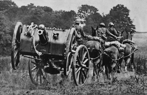 British QF 13 pounder field gun of the Royal Horse Artillery
