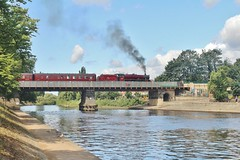 LMS Jubilee No. 45699 'Galatea' Crossing The River Ouse at York - 8th August 2019 (allan5819 (Allan McKever)) Tags: steam loco locomotive engine westcoastrailways thescarboroughspaexpress 1z25 jubilee lms 45699 galatea york yorkshire uk england riverouse station train rail railway water bridge heritage railtour charter excursion 460