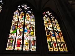 Pentecost and Lamentation window (1848 + 1847) (michael_s_pictures) Tags: pentecost lamentation pfingsten beweinung windows fenster stainedglass dom cathedral köln cologne keulen