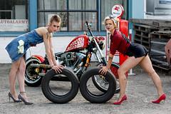 Service alley (piotr_szymanek) Tags: anna annal kamczi woman young skinny portrait outdoor bike harleydavidson girlgirl legs highheels face eyesoncamera fotogenerator fg11 tatoo 1k 20f 50f 5k 100f 10k 20k