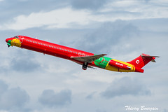 """[ORY] Danish Air Transport (DAT) """"FIFA 2014 Livery"""" McDonnell Douglas MD83 _  OY-RUE (thibou1) Tags: dat danishairtransport md83 fifa2014livery transavia oyrue takeoff thierrybourgain ory lfpo orly spotting aircraft airplane nikon d810 tamron sigma datdk"""