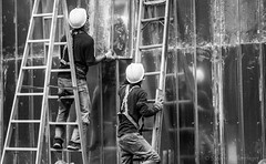 construction of a wall (steve: they can't all be zingers!!! (primus)) Tags: sonya7rii carlzeissjenaddrmc135mmf35 m42 monochrome bw blackwhite blackandwhite carlzeissjena 135mmf35 taiwan taichungtaiwan taichung primelens primecarlzeiss telephoto