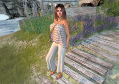 I Walk Alone (*kAmmieAnn*) Tags: allurecouture secondlife avatar fashion style trend appearance model newrelease sand boho lakeboho ramasalon mesh summertrace whitedunesestates walk beach