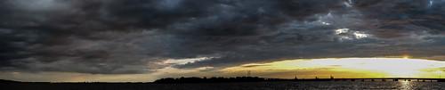 Panoramafoto Stralsund Rügenbrücke