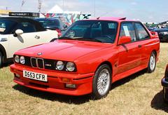 1987 BMW M3 (D553 CFR) 2300cc - Silverstone Classic 2018 (anorakin) Tags: 1987 bmw m3 d553cfr 2300cc silverstoneclassic 2018