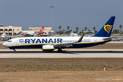 Ryanair Boeing 737-8AS 'EI-GJI' LMML - 13.08.2019 (Chris_Camille) Tags: ryanair boeing 7378as eigji lmml 13082019 spottinglog registration planespotting spotting maltairport airplane aircraft plane sky fly takeoff airport mla aviationgeek avgeek aviation canon5d canon livery myphoto myphotography