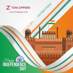Celebrating color of patriotism Wish you all Independence Day! (tonizippers) Tags: tonizippers manufacturer sliders zippers celebrates tricolor flag india freedom coloursofpatriotism wishing wishes 15 august happy happiness independenceday