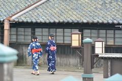 very Japanese scene (Hayashina) Tags: japan sakata window roof rooftile women kimono yukata summer hww sundaylights