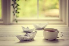 Tea time (Chapter2 Studio) Tags: stilllife bestill breathe tea paper boat window summer peaceful moment love green plant