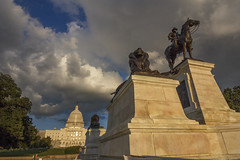 Storm Clouds (peterwaller) Tags: clouds washington storm statue capitol usa america