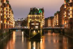 Hamburg (danielghetu.dg) Tags: citylight city germany sony night nightlights travel building deutschland water europe vacation nightsky longexposure reflection