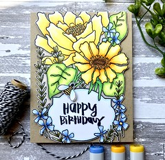 Elegant Flower Frame (The Queen's Scene) Tags: card colorthrowdown handmadecard cardmaking artgonewild catherinescanlon copicmarkers