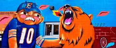 Bears Panorama (Atelier Teee) Tags: terencefaircloth atelierteee mural streetart chicago illinois bears chicagobears logansquare sentrock