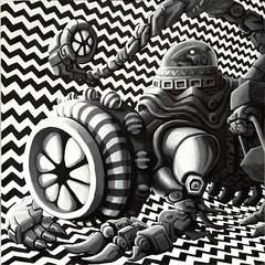DDWNentity001 (Thomas McNulty) Tags: surrealism popsurrealism opart psychedelic blackandwhite monochrome monster creature
