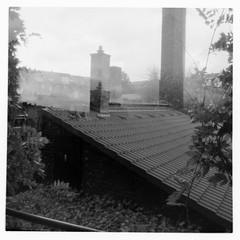 Pinhole set01 - balcony (FrankStehl) Tags: pinhole film 6x6 mittelformat lochkamera lochbildkamera bw blackwhite ilford fp4 ilfordfp4 germany erfurt 2019 2020 analog analogphotography