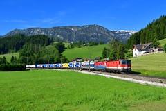 """1144 027 """"ÖBB"""" Windischgarsten (Matthias Greinwald) Tags: 1144 027 1116 046 öbb österreichische bundesbahn güterzug rola zug windischgarsten pyhrn"""