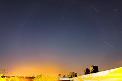 Perseid meteor shower stack (Calvin Musch) Tags: perseid meteor shower night sky stars city light pollution urban