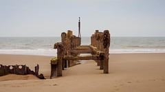 Sea defence (AMcUK) Tags: em10 em10ii em10mkii em10mk2 em102 omdem10 omdem10mkii omd olympusuk m43 micro43rds micro43 microfourthirds olympus olympusdigital olympusdigitalcamera olympusomd 1240 1240pro norfolk happisburgh eastanglia coast sea seascape beach beachscene seaside water ocean breakwater seadefence seadefense