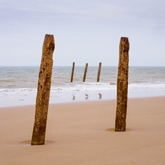 Two and Three 1:1 (AMcUK) Tags: em10 em10ii em10mkii em10mk2 em102 omdem10 omdem10mkii omd olympusuk m43 micro43rds micro43 microfourthirds olympus olympusdigital olympusdigitalcamera olympusomd 1240 1240pro norfolk happisburgh eastanglia coast sea seascape beach beachscene seaside water ocean breakwater seadefence seadefense