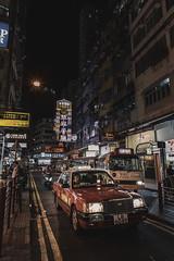 Yau Ma Tei, Hong Kong (mikemikecat) Tags: mode transportation car city motor vehicle building exterior architecture street built structure night land illuminated road life incidental people light residential district outdoors mikemikecat yau ma tei neon sign lights taxi hong kong vm21 voigtlander ultron 21mm f18 aspherical