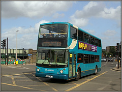 Arriva Southern Counties 6410 (Jason 87030) Tags: arriva southern counties blue turquise volvo doubledecker 133 route service strood bridge light roadside weather august 2019 turquoise applynow advert bus post