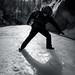 Sobre el hielo de Grotto Canyon (Banff - Alberta - Canadá)