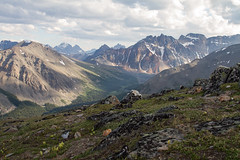 Vistas sur desde el pico The Whistlers (Jasper - Alberta - Canadá)