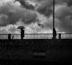 Keep your distance Do not follow me (Fan.D & Dav.C Photgraphy) Tags: exercising healthy lifestyle sky people two street light day men full length railing outdoors rainbow urban silhouette badtime rainyday cityscape black white morning streetphoto streetphotography