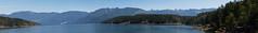 Paisaje de la costa de Columbia Británica (Canadá)