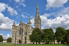 Salisbury Cathedral (iwys) Tags: salisbury cathedral church architecture early english thirteenth century tallest spire beautiful west front trees clouds