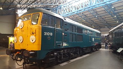 British Rail Blue Class 31 31018 at the National Railway Museum in York (29-04-17) (Rikki Cameron) Tags: trains britishrail blue class31 toffeeapple 31018 brushtraction nationalrailwaymuseum york brushtype2
