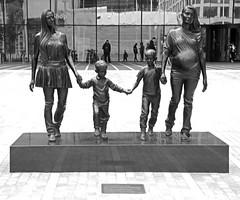 A real Birmingham Family (David Gange) Tags: gillian wearing 2014 birmingham statues art sony a7 2870mm lens
