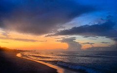 Sunrise at the Beach. (BamaWester) Tags: beach sunriseinalabama sunrise alabama gulfcoast gulfofmexico bamawester clouds sky