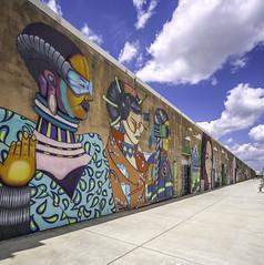 Art Wall Houston (Mabry Campbell) Tags: 6thward artwallhou harriscounty houston sixthward texas usa colorful image painting photo photograph wall wallart f63 mabrycampbell june 2019 june42019 20190604houstoncampbellh6a9418pano 24mm ¹⁄₃₂₀sec 100 tse24mmf35lii