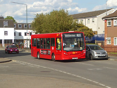 GAL SEN28 - YX61FZB - CRAY ROAD FOOTSCRAY - TUE 13TH AUG 2019 (Bexleybus) Tags: goahead go ahead london kent footscray foots cray road high street sidcup adl dennis enviro 200 firstbus sen28 yx61fzb tfl route r11