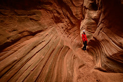 marybeth in angel's cove (Sam Scholes) Tags: adventure utah southernutah landscape beautiful slotcanyon canyon redrock neverstopexploring dirtydevil canyoneering canyoncountry robbersroost wilderness nature