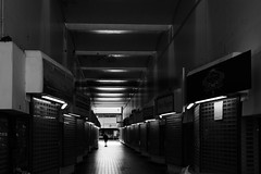Street (lightersideofdark) Tags: outside outdoors shoppingarcade blackwhite dark shadow solo person silhouette streetphotography