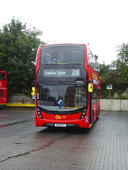 GAL EH316 - YW19VPJ - MB ORPINGTON BUS GARAGE - WED 14TH AUG 2019 (Bexleybus) Tags: goahead go ahead london mb orpington bus garage farnborough hill green street kent br6 adl dennis enviro 400 mmc eh316 yw19vpj tfl route 208