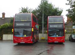 GAL E95 LX08EBU - E214 SN61DDL - MB ORPINGTON BUS GARAGE - WED 14TH AUG 2019 (Bexleybus) Tags: goahead go ahead london mb orpington bus garage farnborough hill green street kent br6 adl dennis enviro 400 e95 lx08ebu e214 sn61ddl tfl route nis not in service