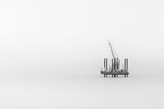 'Exploratory Rig'' (Jonathan Casey) Tags: sizewell oil rig black white power nikon d850 sigma 135mm f18 art