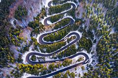 Cheia, Romania (danielghetu.dg) Tags: dji drone forest mountain aerial winter road europe mavicpro tree street mavicpro2
