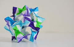 Lusitania Kusudama (Byriah Loper) (Byriah Loper) Tags: origami origamimodular modularorigami modular byriahloper byriah paperfolding paper polygon polyhedron pentagonal wireframe kusudama