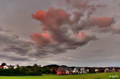 Wolken während des Sonnenunterganges (GerWi) Tags: wolken sunset sonnenuntergang rosa lila abendhimmel himmel landschaft fz1000 ww weitwinkel