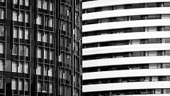 Opposites Attract (Sean Batten) Tags: london england unitedkingdom blackandwhite bw waterloo lines architecture city urban nikon d800 70200