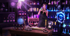 Potion of love (meriluu17) Tags: enchantment witch witchy magic magical surreal fantasy violet potion potions elixir owl animal pet sweet love people portrait