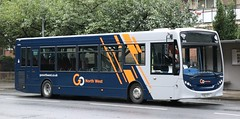 Go North West, Manchester 64004 YX62DTY runs 'Out of Service' on Rochdale Rd, Harpurhey. (Gobbiner) Tags: e200 gonorthwest 64004 manchester goaheadgroup yx62dty adl enviro ctplus da12 gonorthwestcouk