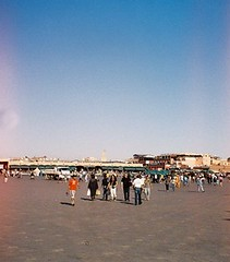 82b (rugby#9) Tags: market square view buildings people marrakesh morocco africa northafrica jemaaelfnaa djemaaelfna sky bluesky